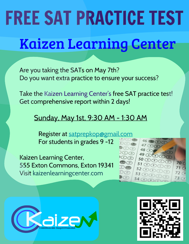 Kaizen Learning Center – Free SAT Practice Test